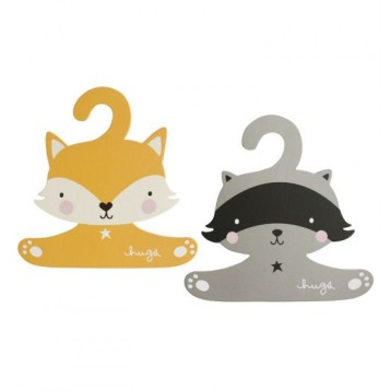 set-de-2-cintres-raton-laveur-et-renard